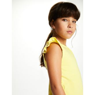 Sadie - Yellow Frill Tee